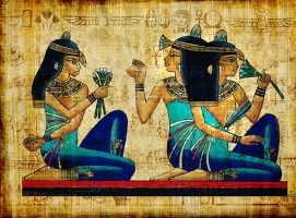 Activités florales des femmes égytiennes au bord du Nil !